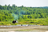 The 152 mm howitzer 2S19 Msta-S. Russia — Stockfoto