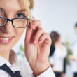 Businesswoman in office — Stock Photo #4238877