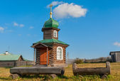 Chapel of Saviour of Transformation. N.Sinyachikha — Foto Stock