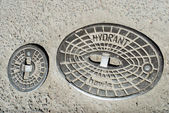 Old manhole of fire hydrant — 图库照片