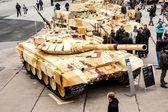 Military technics exposition — Stock Photo
