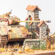 Постер, плакат: Miniature with german tank Panther