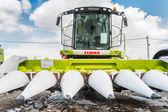 Mietitrice di cereale. Tyumen. Russia — Foto Stock