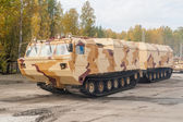 Tracked carrier DT-30P1 in motion. Russia — Stock Photo