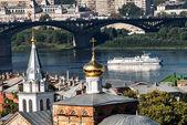 View on Kanavinsky Bridge. Nizhny Novgorod. Russia — Stock Photo