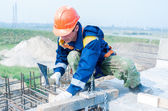 Worker on bridge construction — Stockfoto