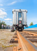 Tyumen Children's railroad. Russia — Stock Photo