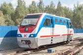 TU10-011 locomotive on Children's railroad. Russia — Stock Photo