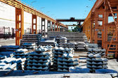 Finished goods warehouse at Concrete Goods Plant — Stock Photo