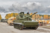 Convoy of military technics. Russia — Stockfoto