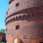"Tower ""Dona"" on Verkhneye Lake shore. Kaliningrad — Stock Photo"