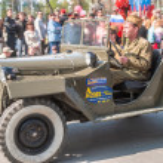 Tyumen, Russia - May 9. 2008:Victory Day in Tyumen — Stock Photo #46149987