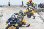 Racing of snowmobiles — Stock Photo