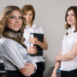 Businesswoman with her team — Stock Photo #4660401