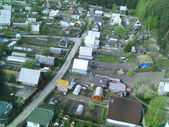 View of housing estate from bird eye view — Stock Photo