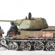 ������, ������: Miniature with old soviet t 34 tank