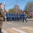 Company of traffic police officers march on parade — Stock Photo #46727875