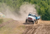 Truck racing — Stock Photo