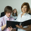 Woman and man in office — Stock Photo #4734261