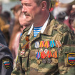 Colonel of police on Victory Day parade — Stock Photo