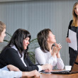 Pretty woman making a business presentation — Stock Photo