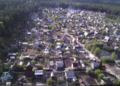 Aerial view of housing estate from bird eye view — Stock Photo