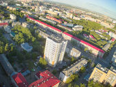 City quarters from helicopter. Tyumen. Russia — Foto de Stock