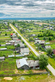 Aerial view of village from high point — Stock Photo