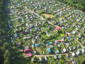 Bird's eye view of housing estate — Stock Photo