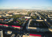 City view from helicopter. Tyumen. Russia — Stock Photo