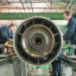������, ������: Workers assembly aviation engine