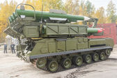 Buk-M1-2 surface-to-air missile systems in motion — Stock Photo