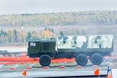 Onboard MZKT-6001 truck — ストック写真