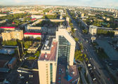 Office building and Respubliki street. Tyumen — Stock Photo