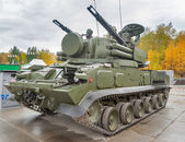 Antiaircraft missile system Tunguska M1. Russia — Stock Photo