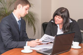 Businesspeople works in office — Stock Photo