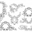 Stock Vector: Set of baroque elements
