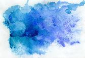 Blue watercolor background — 图库照片