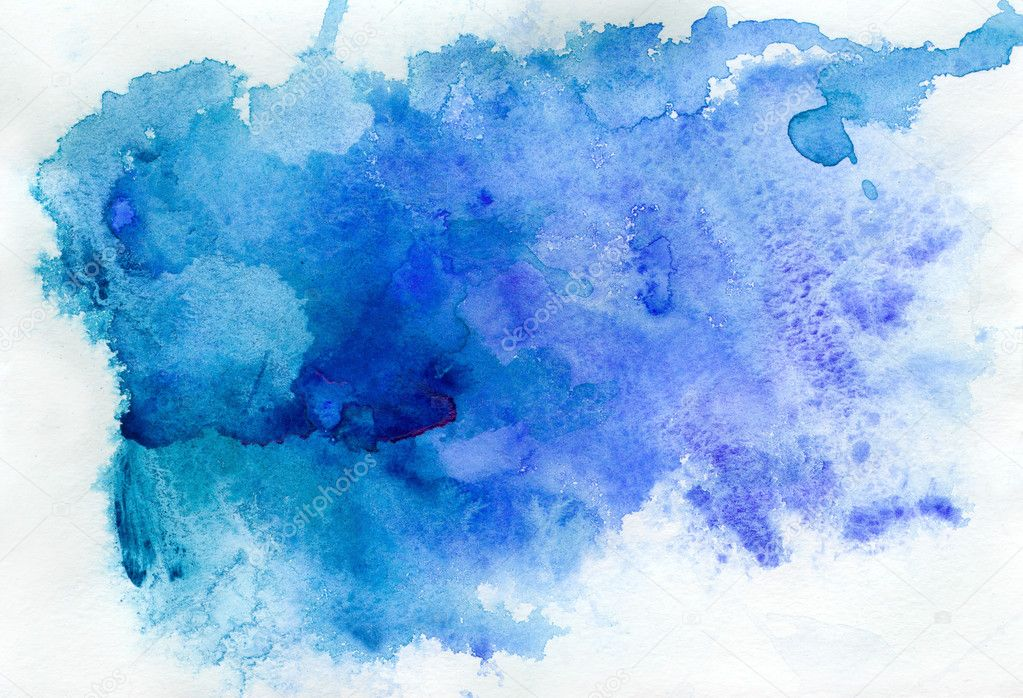 Fundo aquarela azul — Fotografias de Stock © ninanaina ...