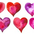 set of hearts — Stock Photo