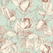 Vintage roses - Grafika wektorowa