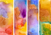 Watercolor banner — Stock Photo