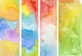 Watercolor banners — Stock Photo
