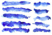 Ultramarine strokes — Stock Photo