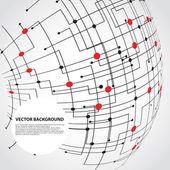 Abstract technology globe — Stock Vector