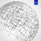 Abstract technology globe — ストックベクタ