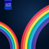Bright rainbow illustration with space for your business message — Stock Photo