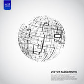 Abstract technology globe — Stockfoto
