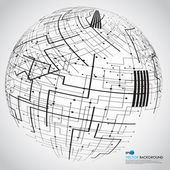 Abstract technology globe — Stockfoto