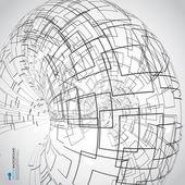 Abstract technology globe — Stock Photo
